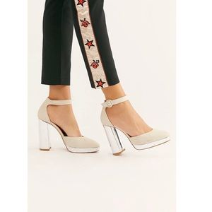 Free People White Leather Pump